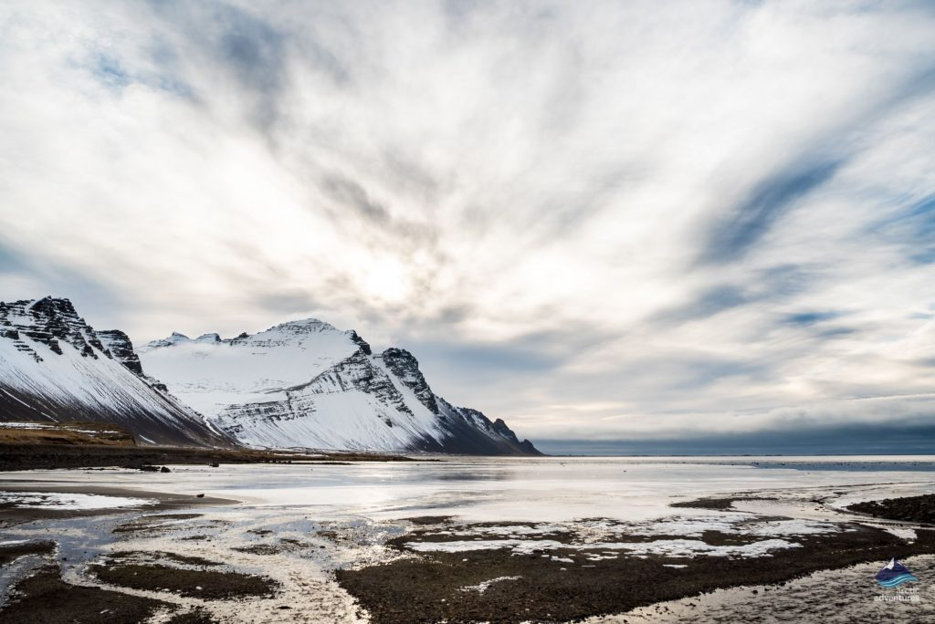 East Fjords Iceland mountains in winter