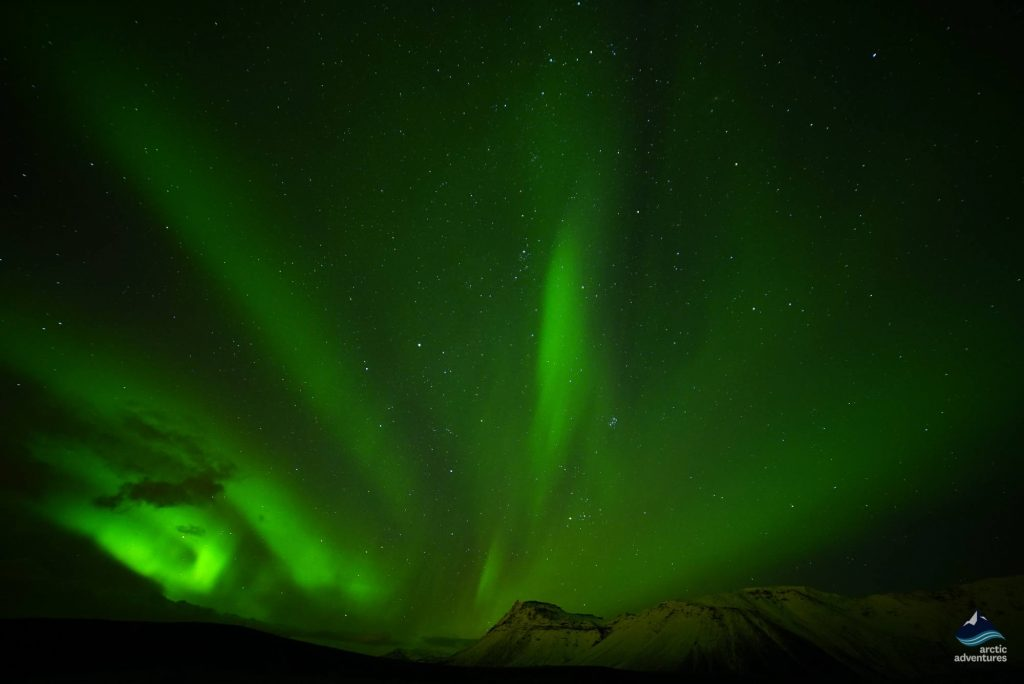 Northern lights in the sky in Iceland