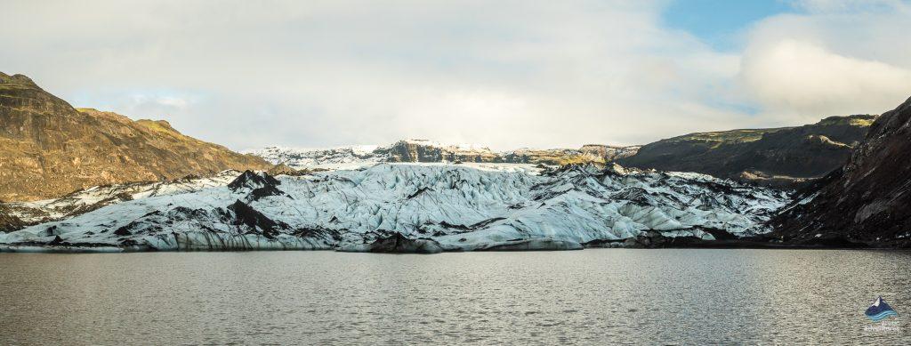 at the bottom of Solheimajokull glacier