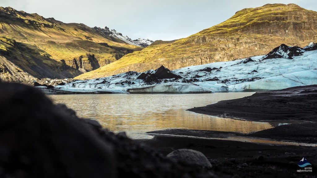 beautiful solheimajokull, at the bottom of the glacier