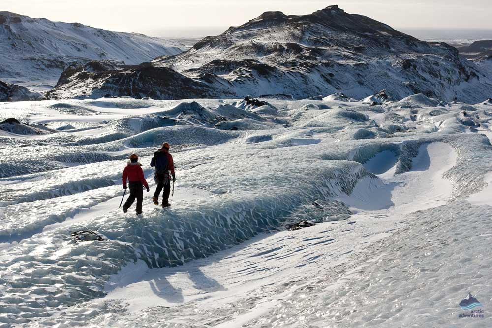 Glacier hiking on Solheimajokull glacier