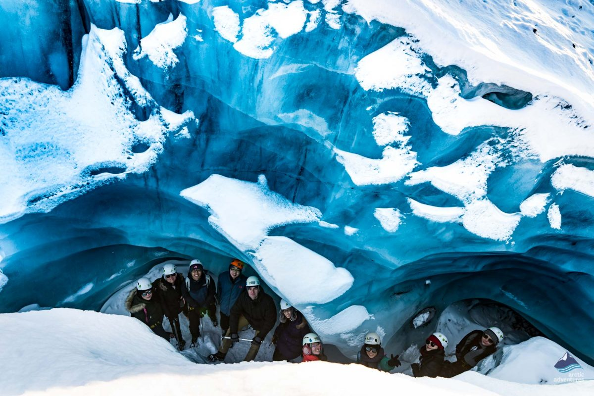 Group on Skaftafell glacier hiking tour