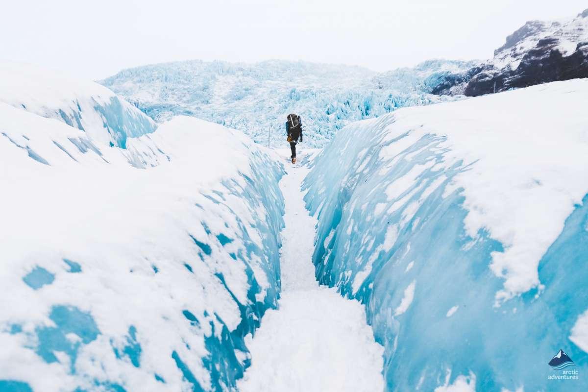 Glacier hiking tour, Falljokull, Iceland.