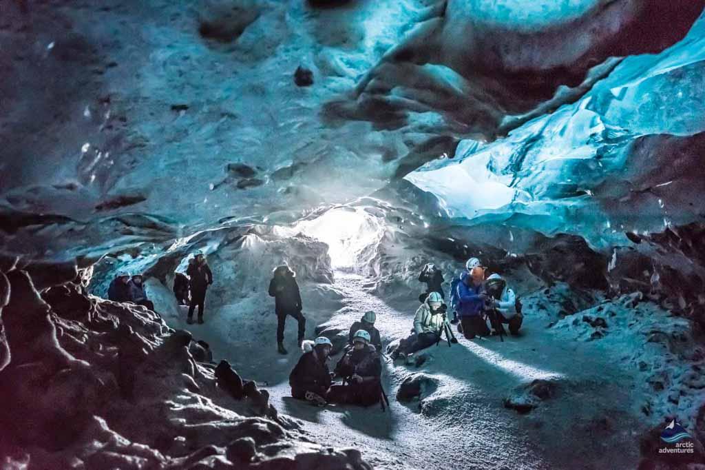 Enjoying the Crystal cave in Skaftafell
