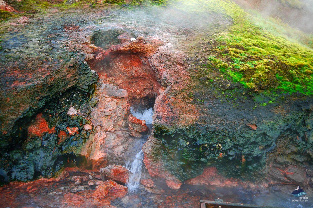 bubbling hot water on snaefellsnes peninsula
