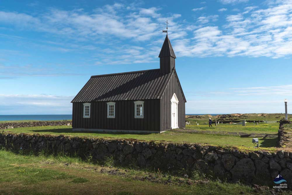 budir black church in iceland
