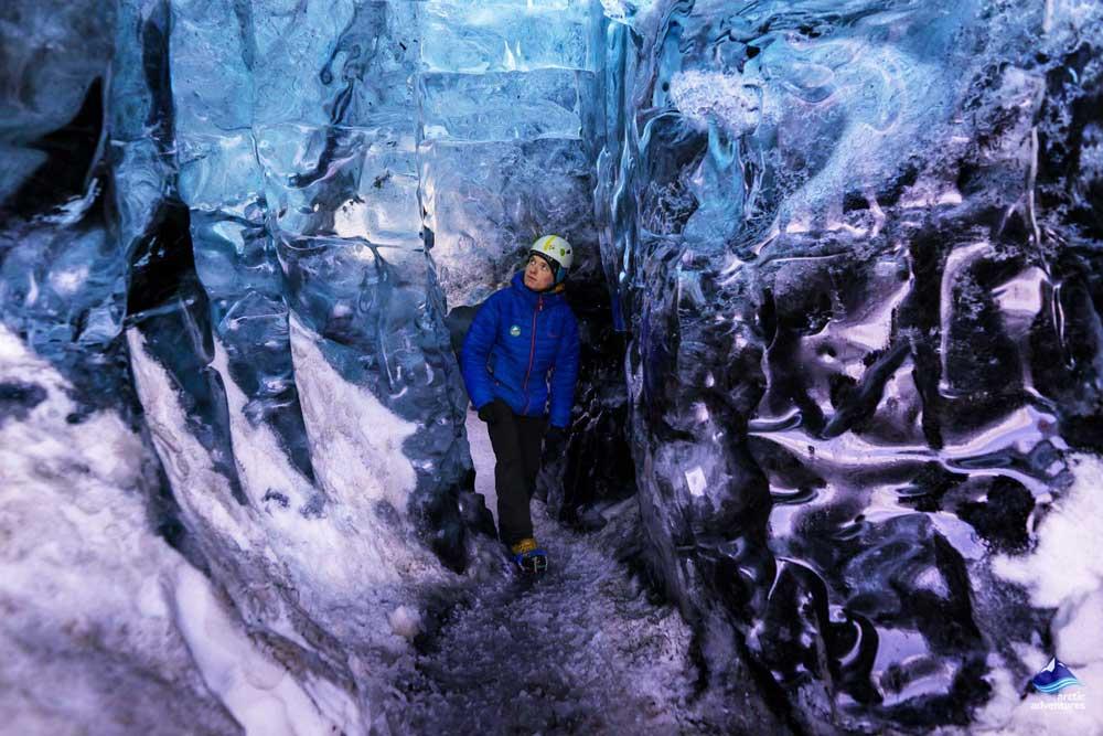 Crystal Ice cave in Vatnajökull