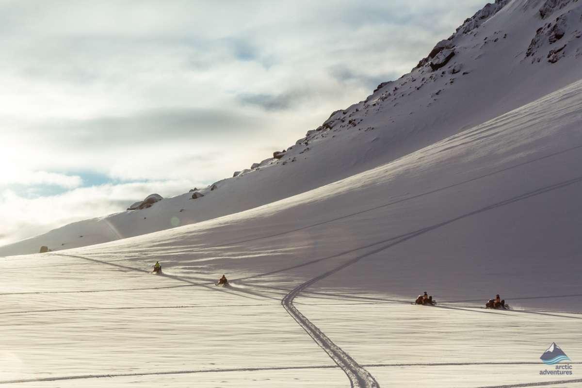 Snowmobiling-tour-Langjokull-glacier-Iceland