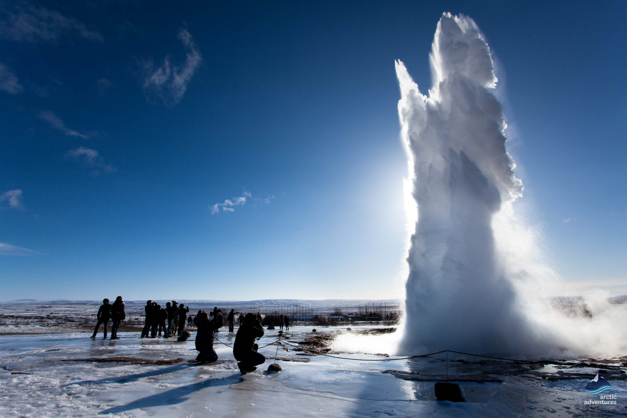 Strokkur Geyser Golden in Iceland