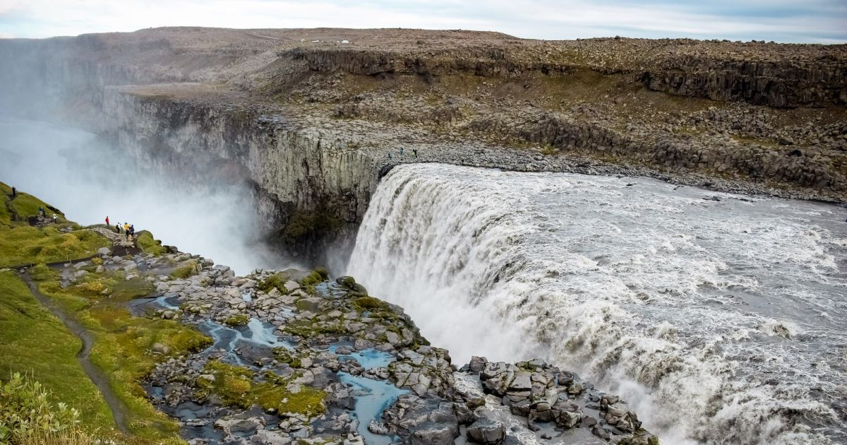 Dettifoss Waterfall Vatnaj 246 Kull National Park Arctic
