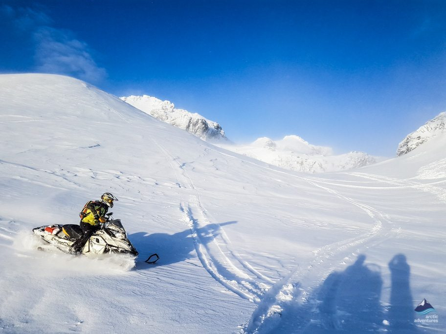 Snowmobiling on Langjokull