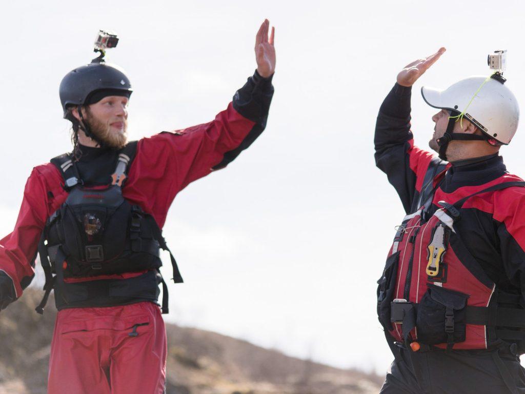 Gullfoss canyon rafting staff