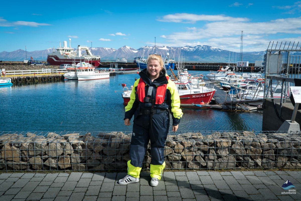 Girl in dalvik harbor
