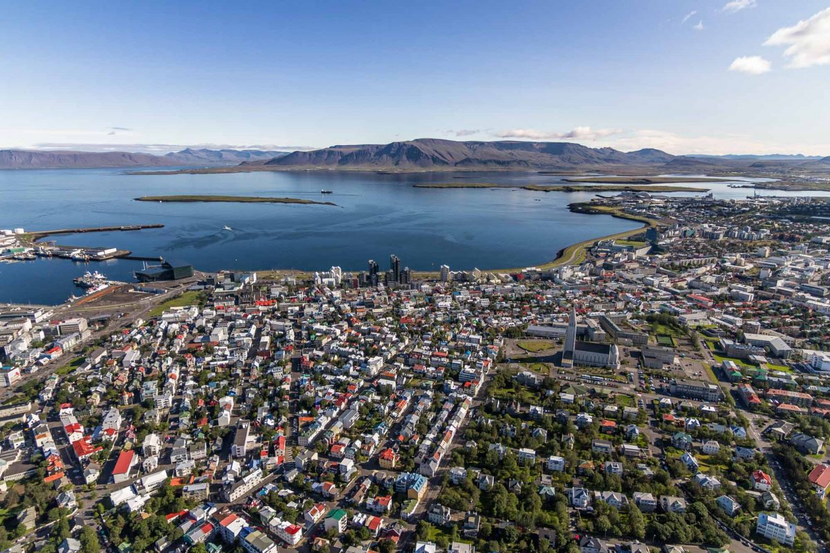 view over Reykjavik Iceland