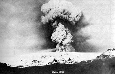 Katla eruption in Iceland