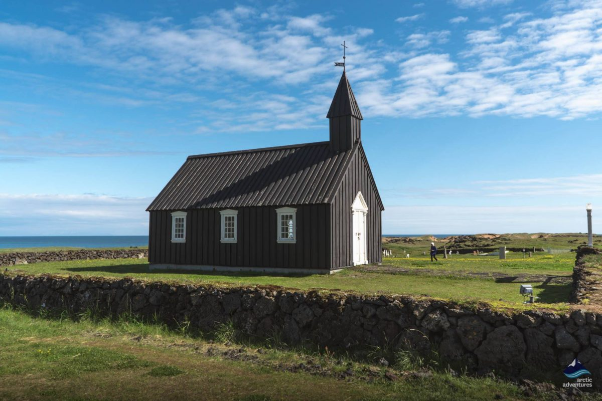 Budir black church, snaefellsnes peninsula, Iceland