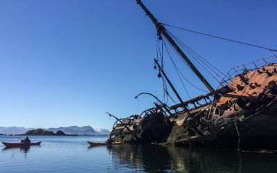 Boat wreck in Iceland