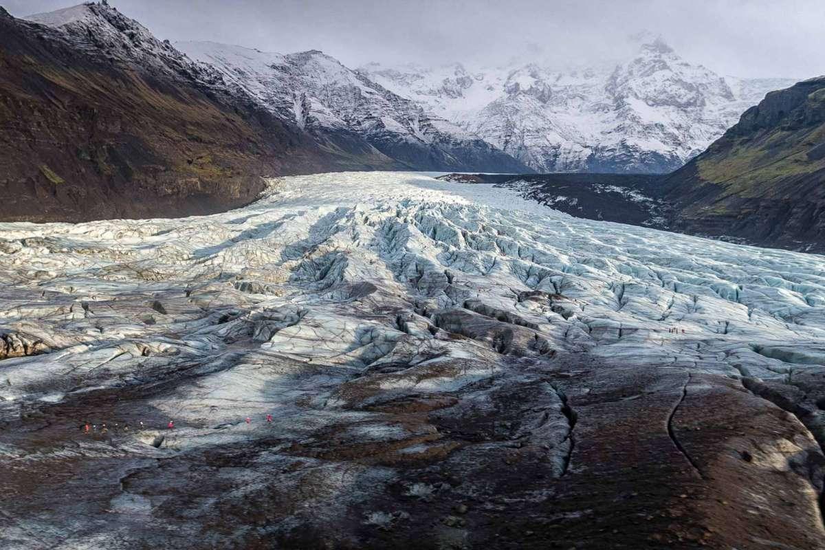 View over Svinafellsjokull Glacier Iceland