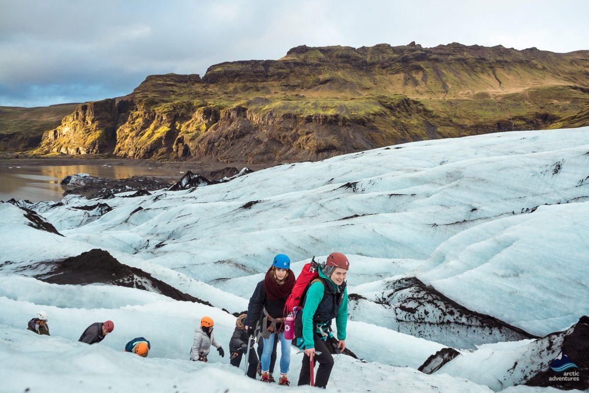 Solheimajokull glacier hiking tour in Iceland