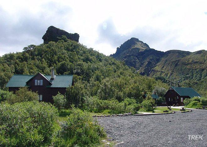 Thorsmork basar hut in Iceland