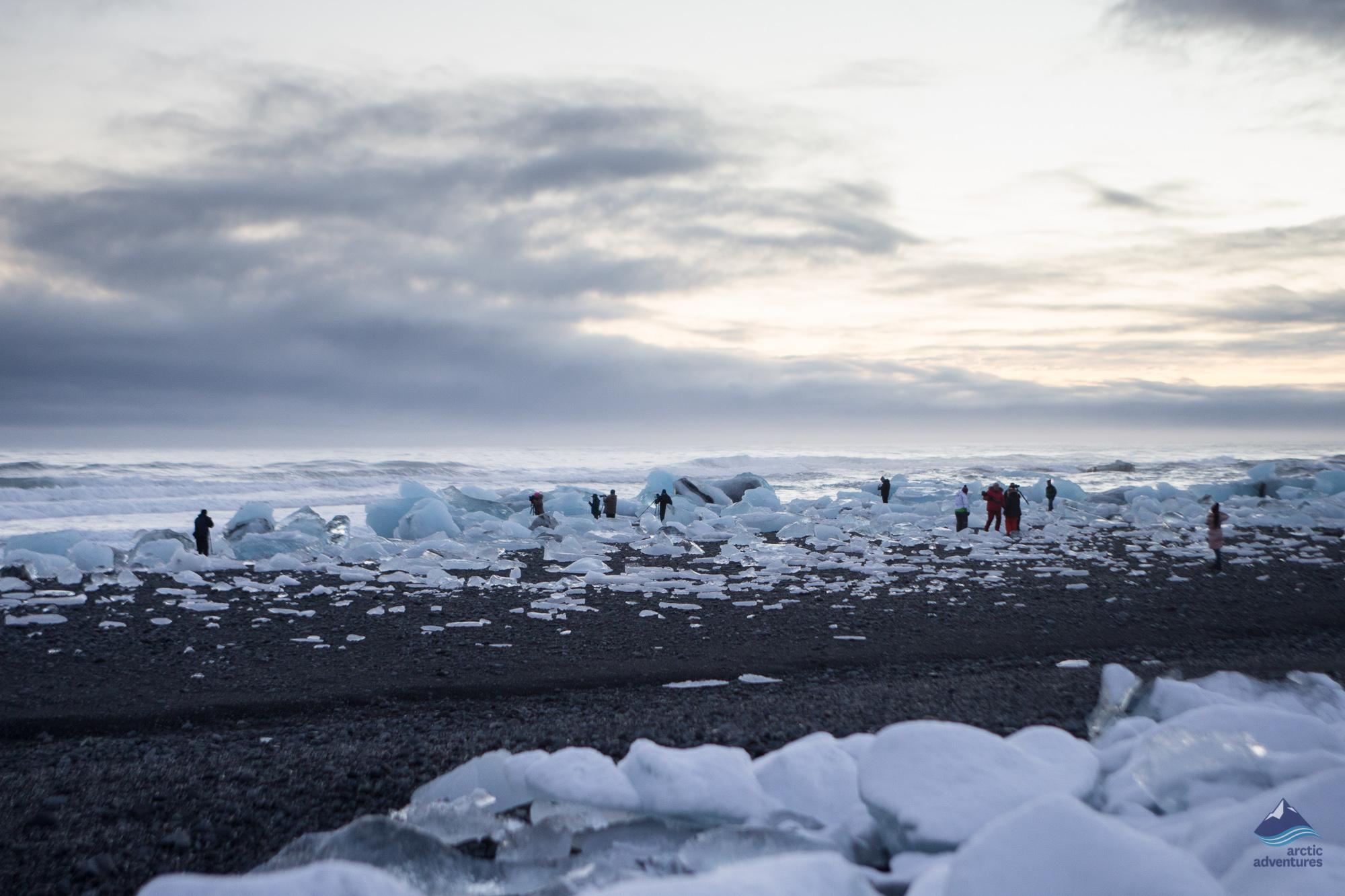 Diamond beach Jokulsarlon glacier lagoon