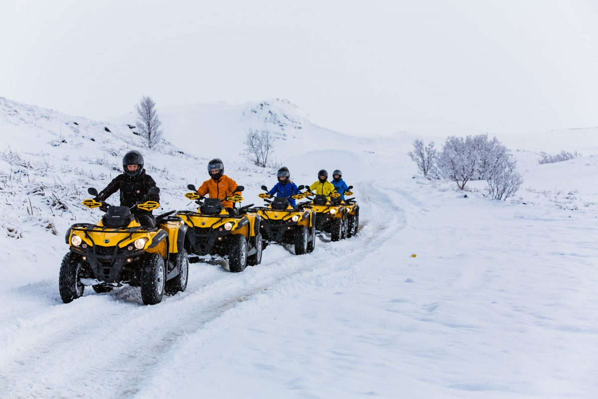 atv tour in icelandic winter