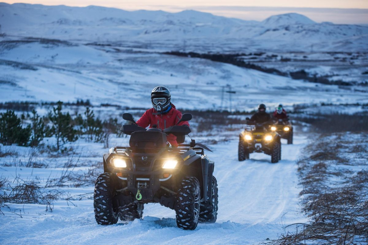 atv fun in Icelandic winter tour