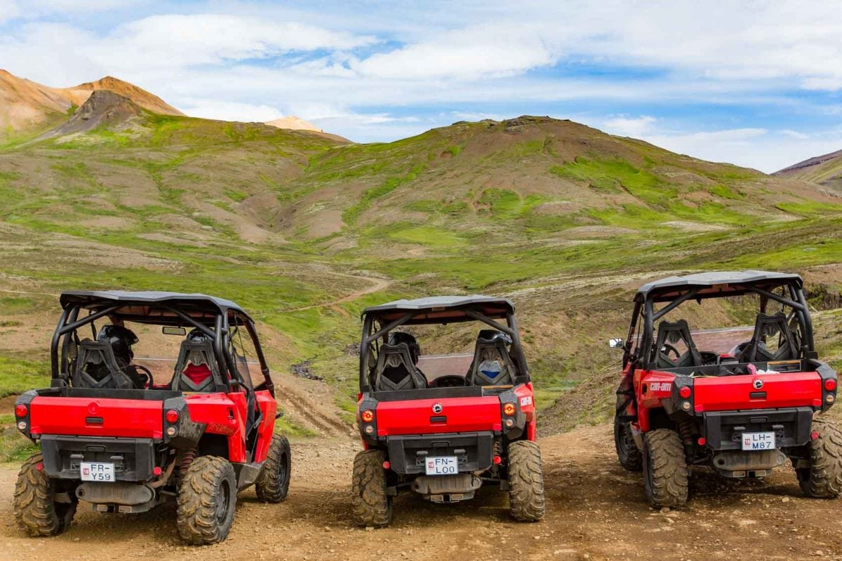 three buggies in Iceland