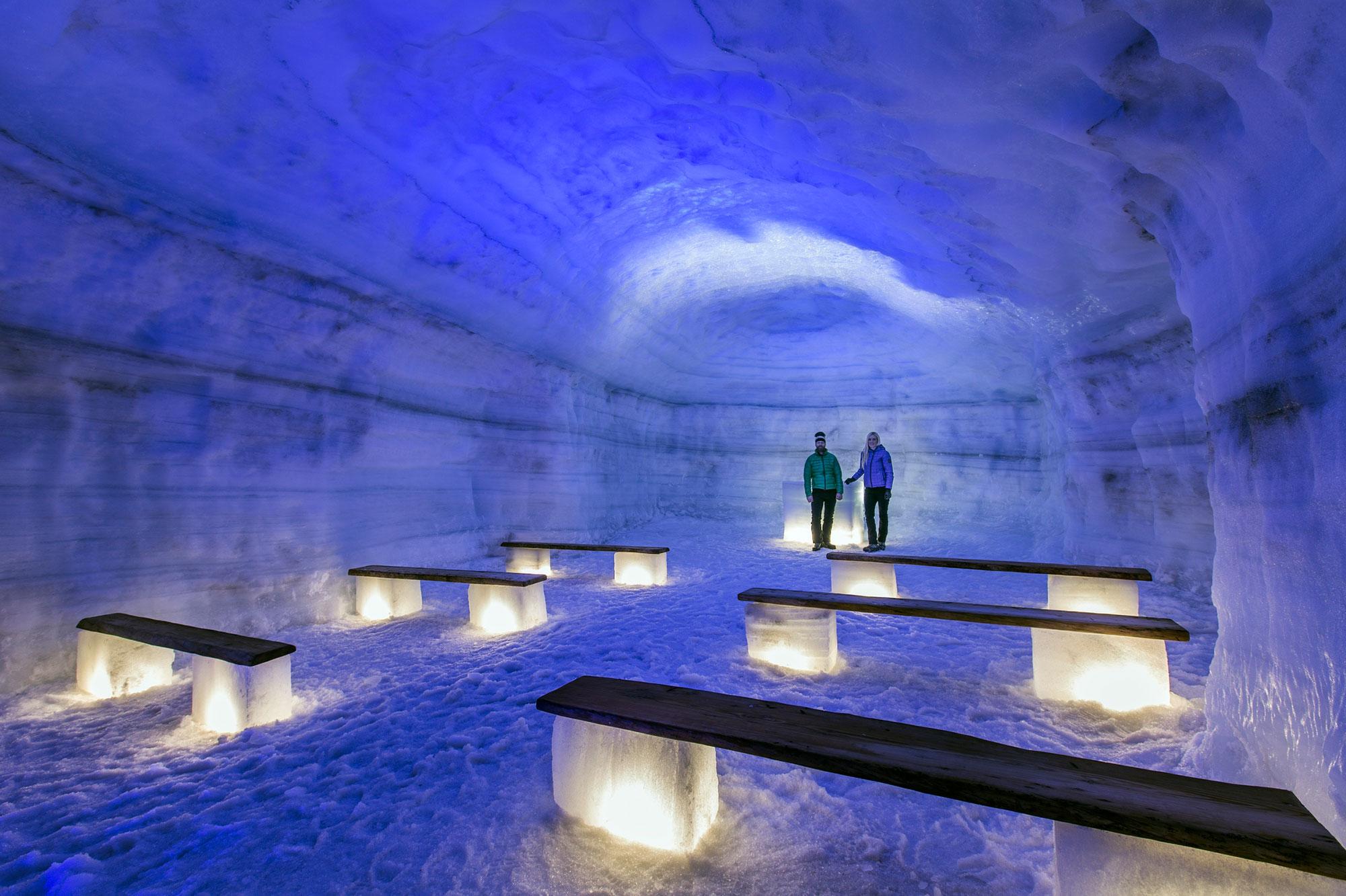 Into the Glacier Langokull glacier Iceland