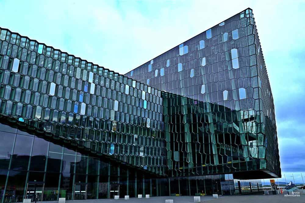 Harpa Musical hall in Reykjavík