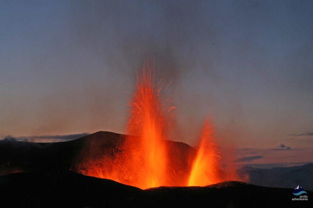 Eyjafjallajokull eruption in Iceland in 2010