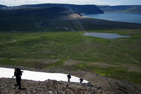 Hiking in Hornstrandir Iceland