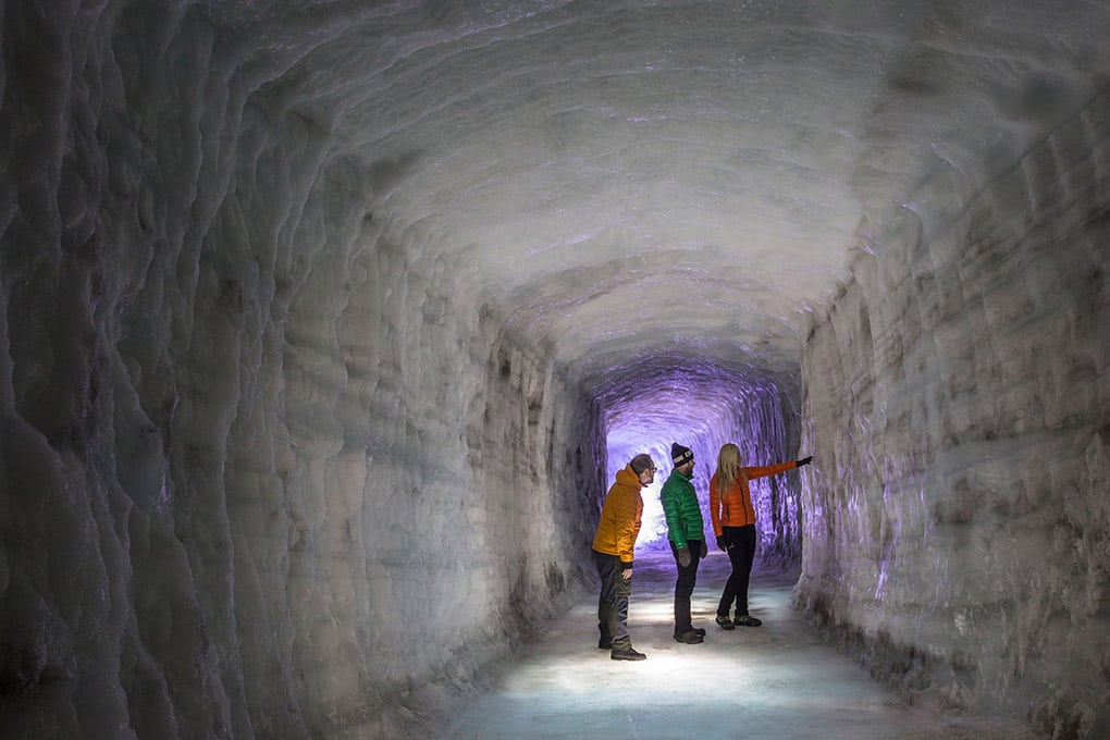 Ice Tunnel on Langjökull Glacier
