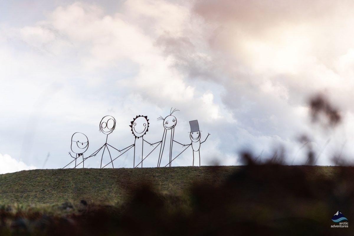 Keflavik town on Reykjanes Art Sculptures