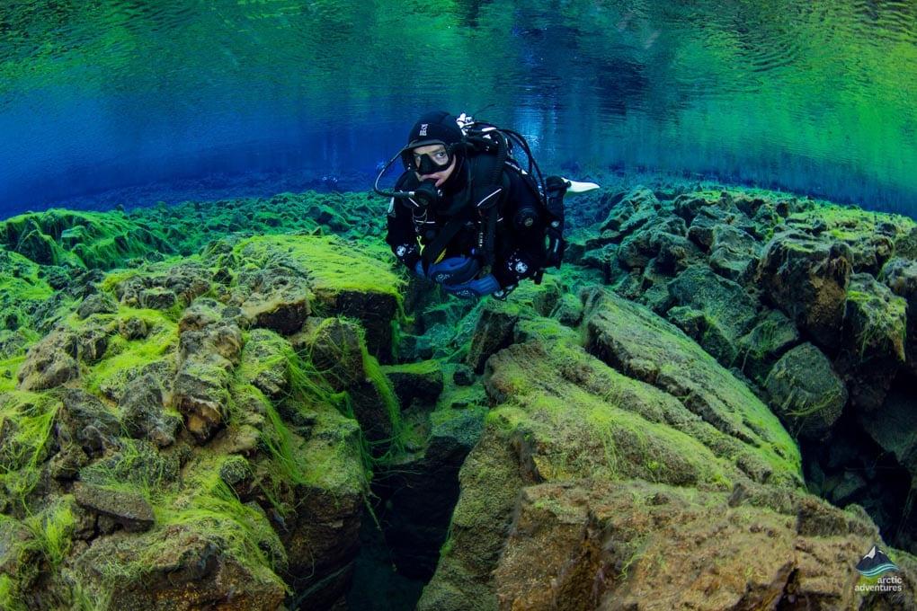 Scuba Diving in Silfra fissure