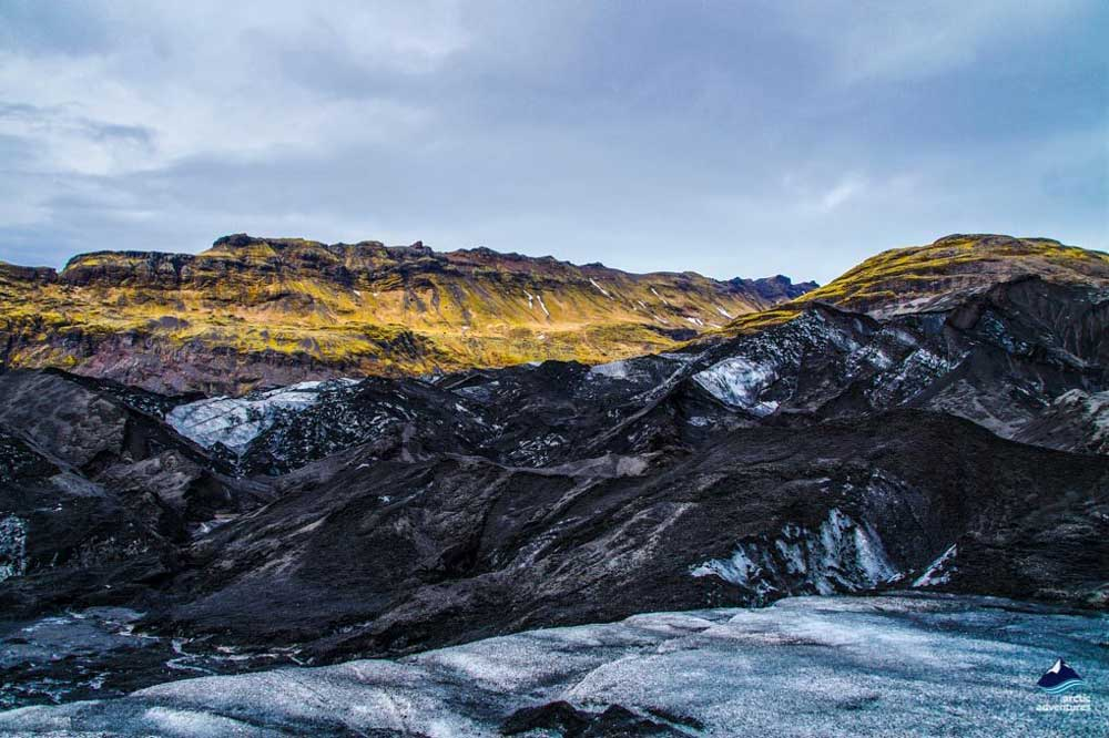 Solheimajokull Glacier in South Iceland