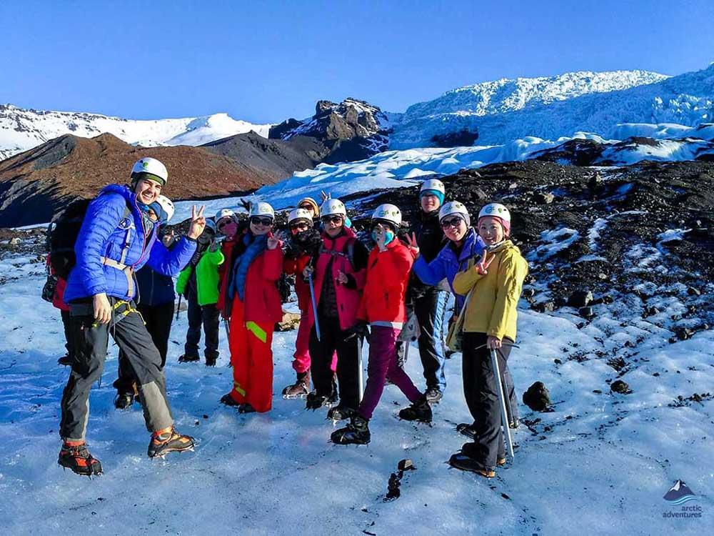 Falljokull glacier hiking in Iceland