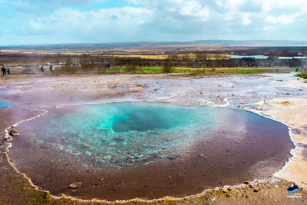 hot springs in the geysir area on the Golden Circle