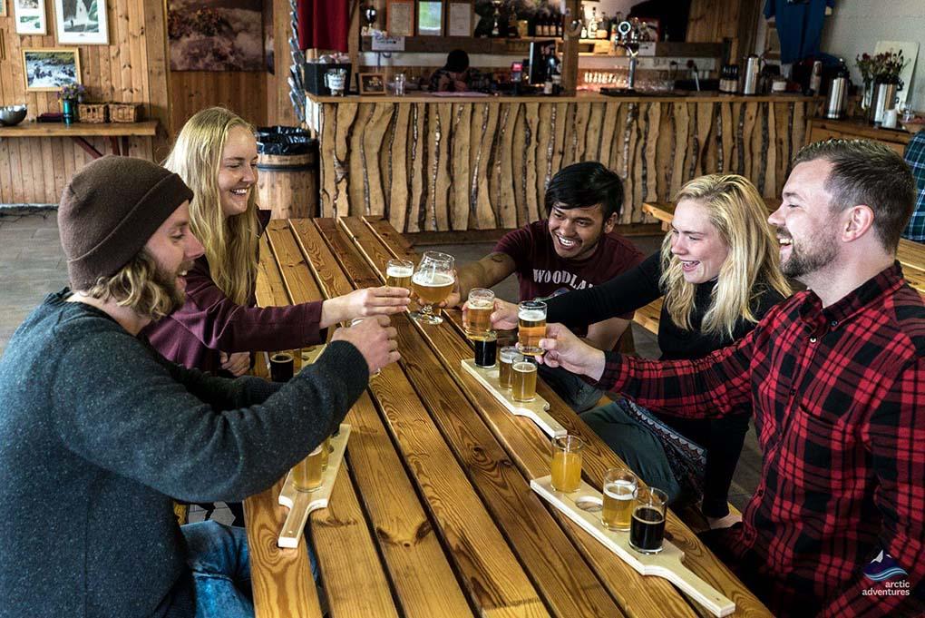 Enjoying Iceland Beer