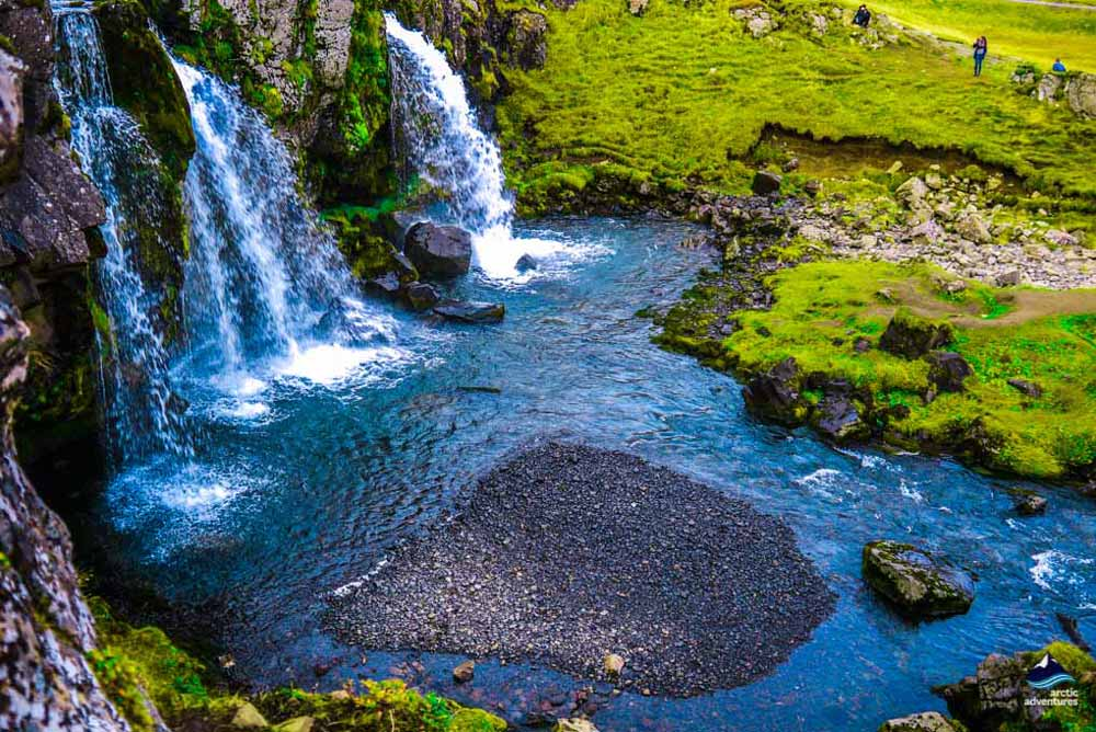 Kirkjufellsfossar waterfalls near Kirkjufell