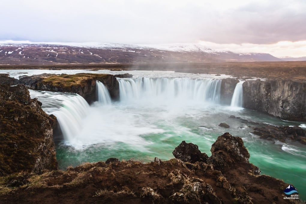 north iceland waterfall, godafoss