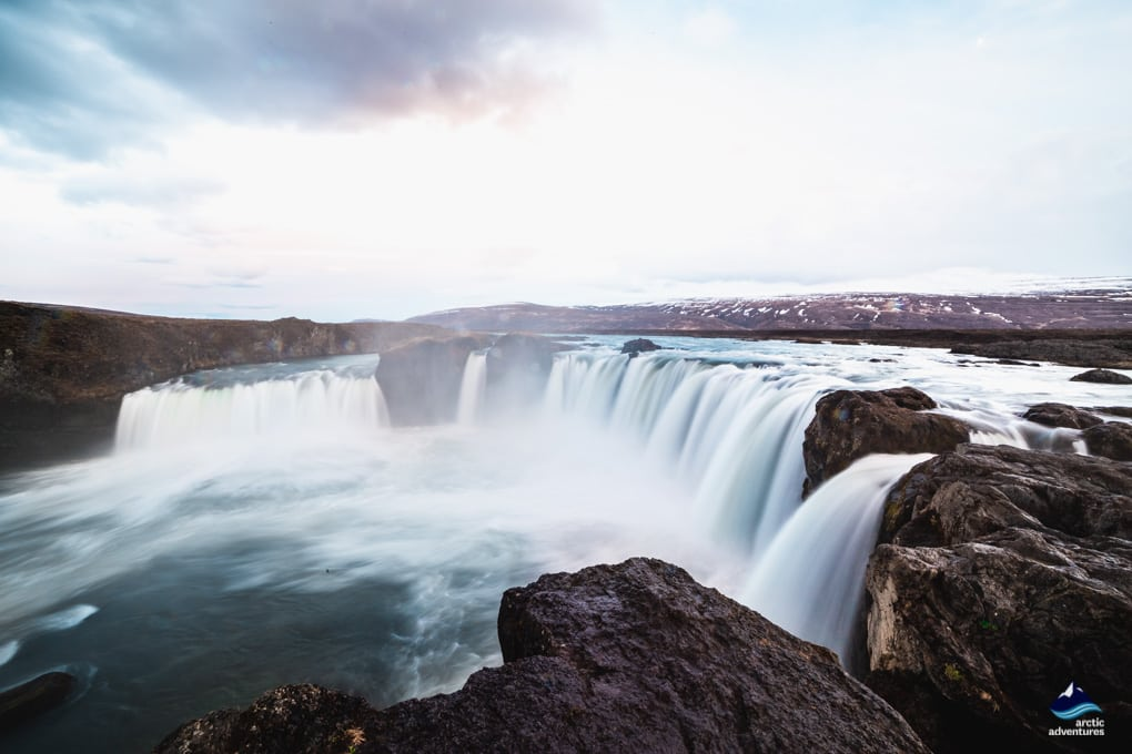godafoss waterfall north iceland