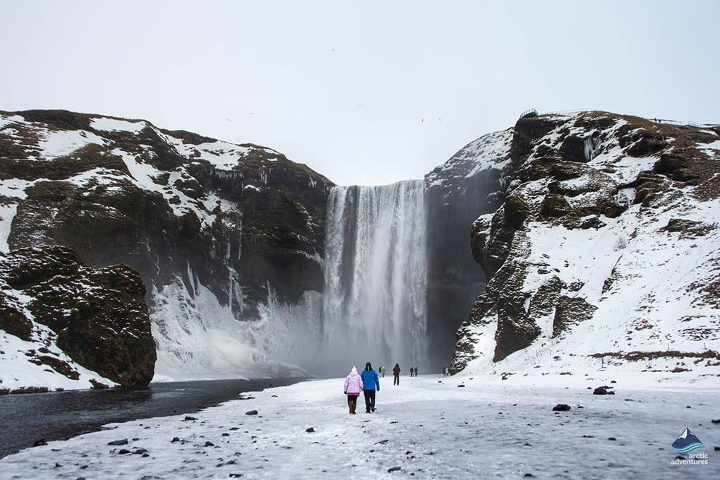 Skogafoss in Winter in Iceland