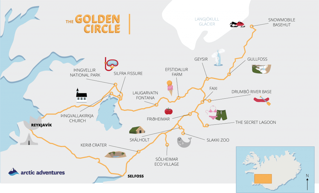 Golden Circle Map