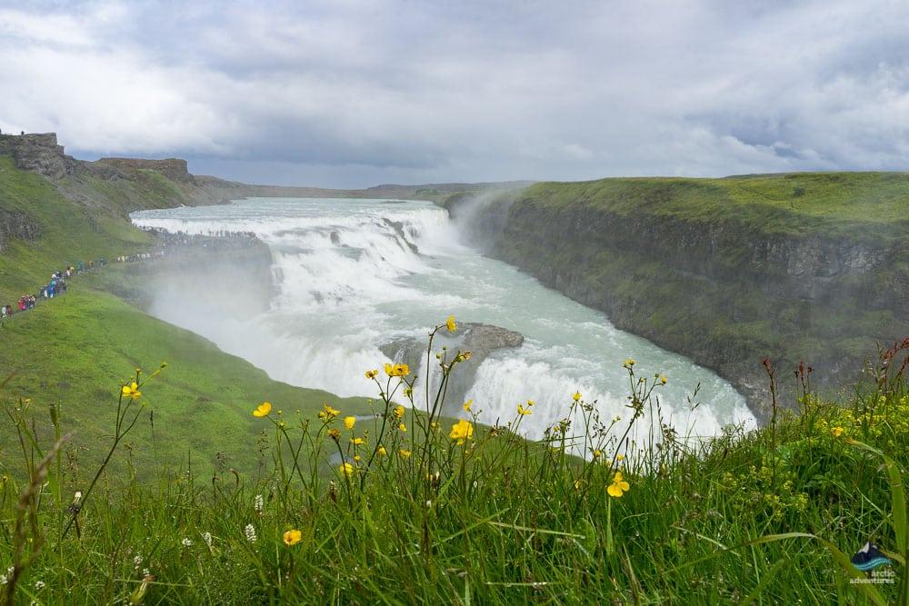 gullfoss waterfall on the golden circle iceland