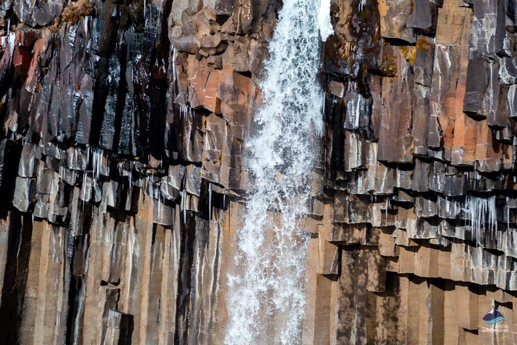 Svartifoss waterfall inside Skaftafell National Park