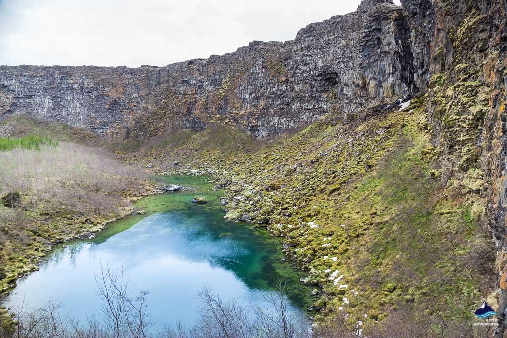 Botnstjorn lake inside Asbyrgi