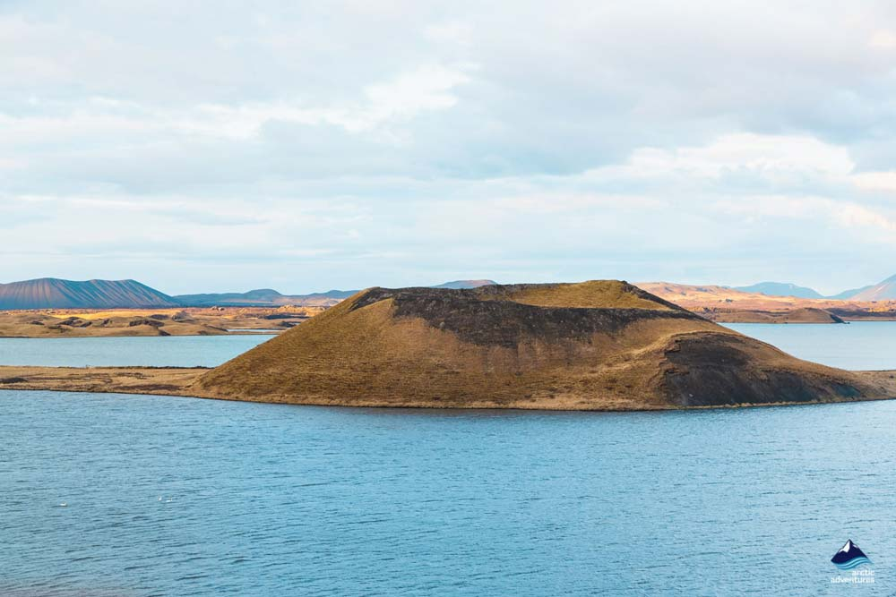 Mountain around Myvatn Iceland
