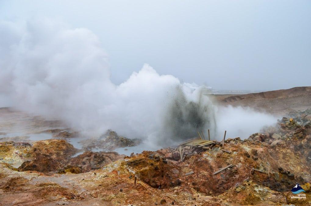 Gunnuhver Icelandic Hot Geyser