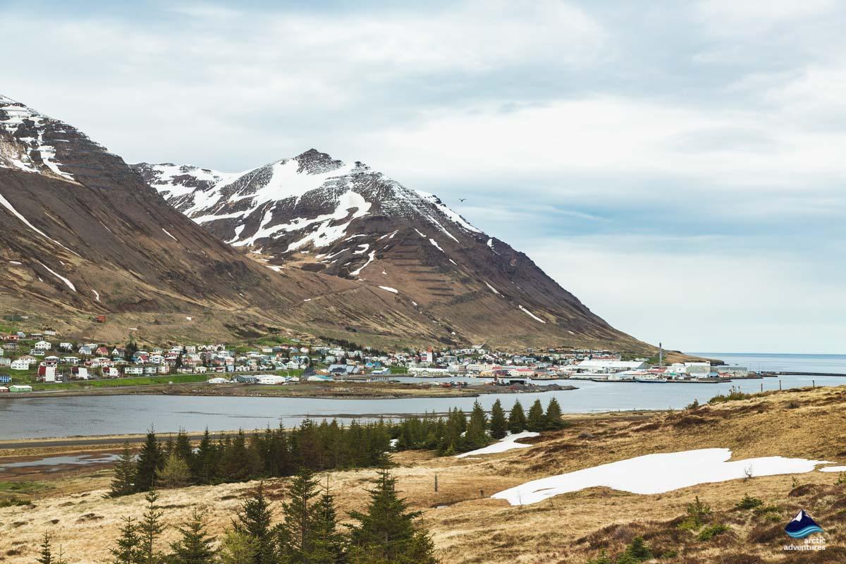 Siglufjordur village north iceladn